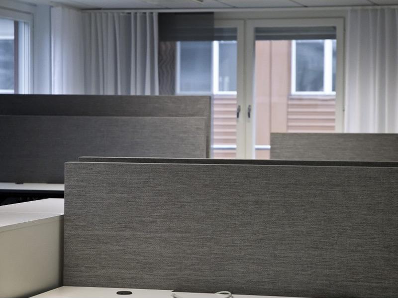 Sound-absorbing table screens Bordsskärmar och sidoskärmar